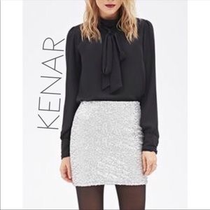 NWT Kenar Milly Opal sequin mini skirt 4 S